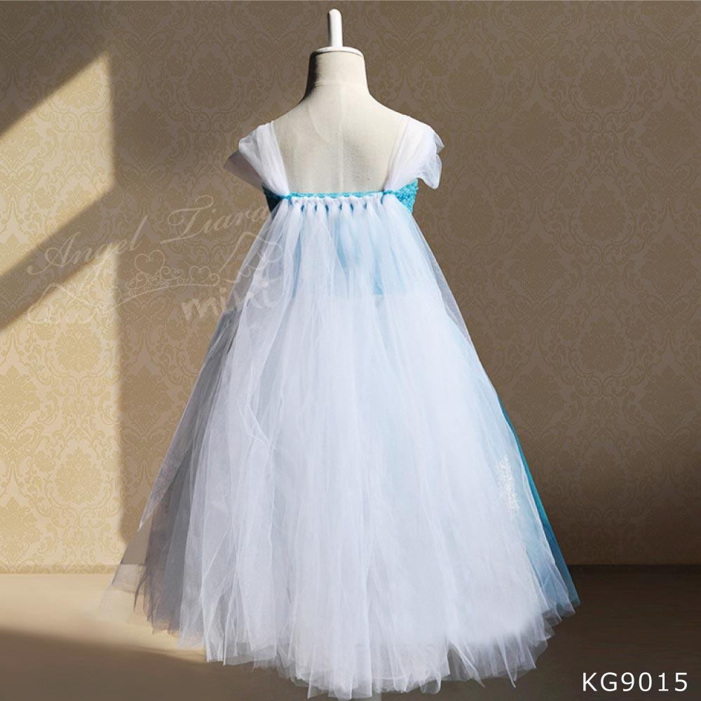 ハロウィン コスチューム ドレス 仮装 衣装 アナと雪の女王 エルサ風 プリンセス ブルー KG9015
