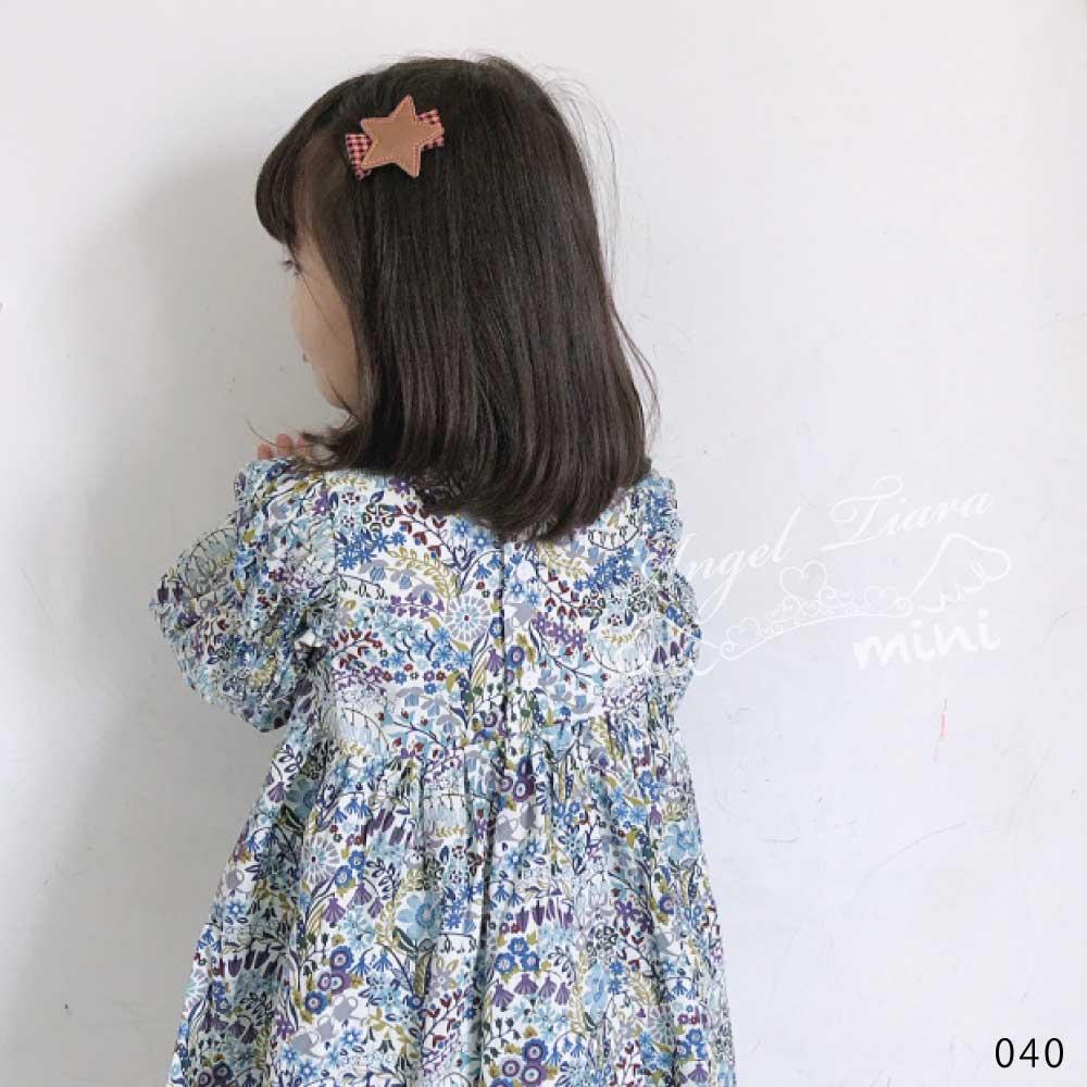 キッズ 春 夏 ワンピース 総花柄 綿100% KG040