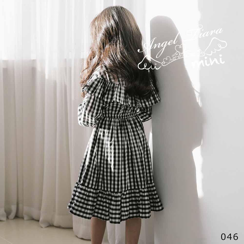 子供服 キッズ 女の子 ワンピース ギンガムチェック チェック柄 ギンガムワンピース ワンピ 長袖 KG046