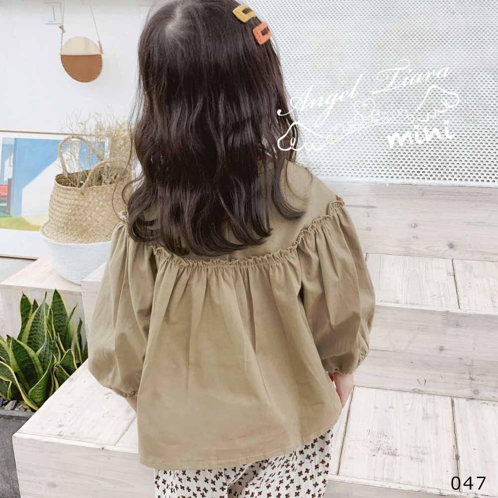 子供服 キッズ 女の子 トップス 長袖 バルーンスリーブ ふんわり袖 KG047