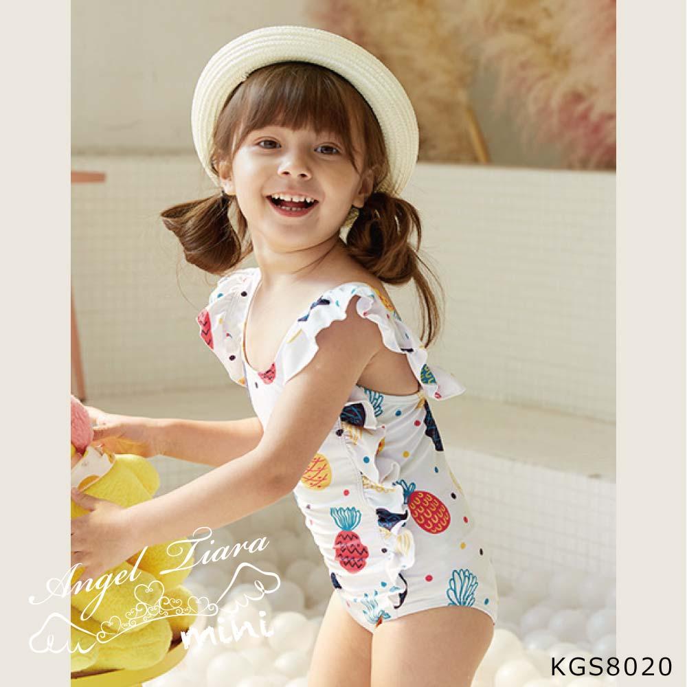 子供 女の子 水着 ワンピース 水着 ホワイト KGS8020