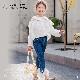 子供服 キッズ 女の子 トップス ブラウス シャツ 長袖 ホワイト 白シャツ フォーマル 刺繍 レース KG116