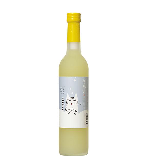 【冬ラベル】 かれん 柚子酒 (冬限定) 500ml アクリルケース入り