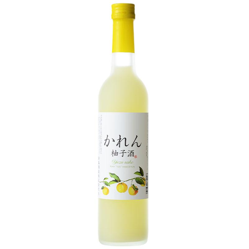 かれん 柚子酒 500ml アクリルケース入り