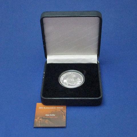 オーストラリア 2011 カンガルー1ドル銀貨 Proof 箱・証明書付き