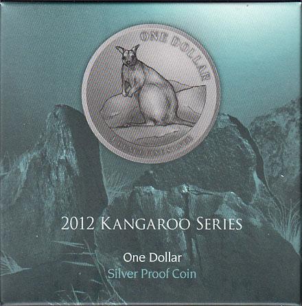 オーストラリア 2012 カンガルー1ドル銀貨 Proof 箱・証明書付き