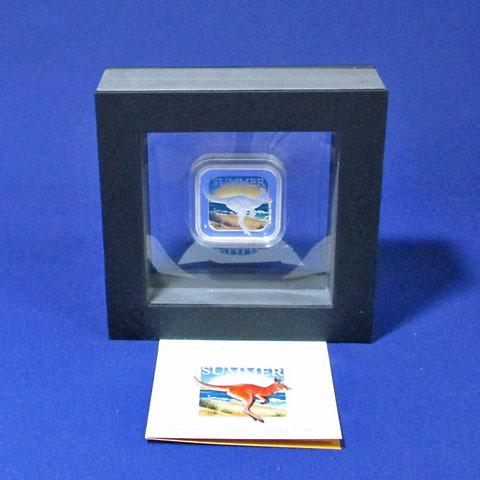 オーストラリア 2013 豪州の四季・夏 角型1ドル銀貨 Proof 箱・証明書付き
