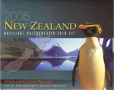 ニュージーランド 2005年 7種セット UNC