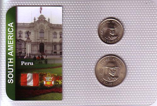 ペルー 1973-75年 2種セット UNC