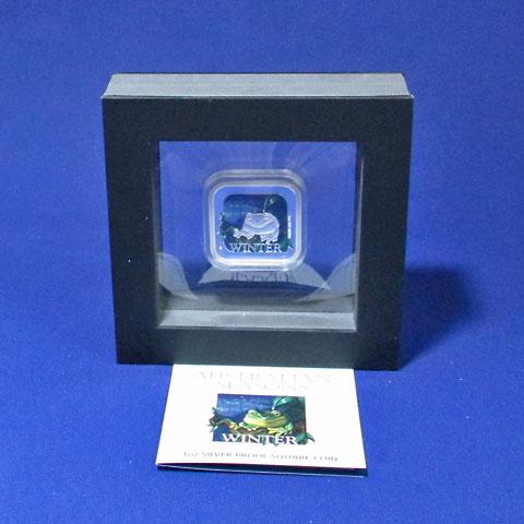 オーストラリア 2013 豪州の四季・冬 角型1ドル銀貨 Proof 箱・証明書付き