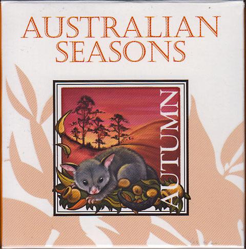 オーストラリア 2013 豪州の四季・ポッサム 角型1ドル銀貨 Proof 箱・証明書付き