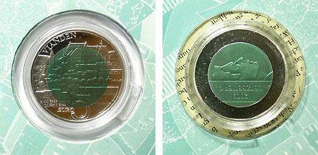 ルクセンブルグ ヴィアンダン城 5ユーロ・バイメタル貨 2009 UNC