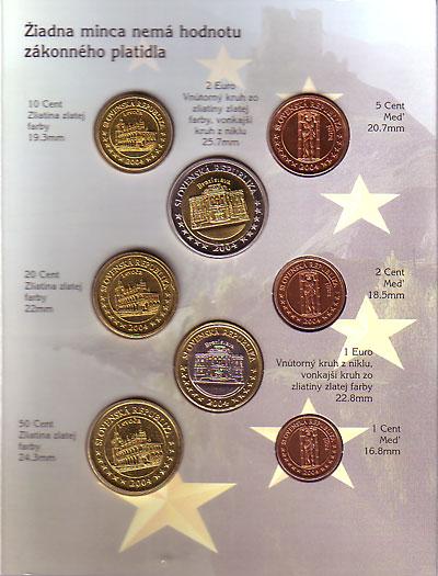 スロヴァキア 2004 ユーロファンタジー試鋳貨 8種セット UNC