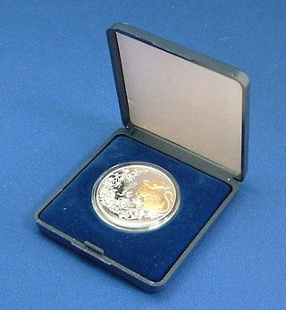 モンゴル 1996 干支のコイン 子年(鼠) 500トグログ銀貨 Proof