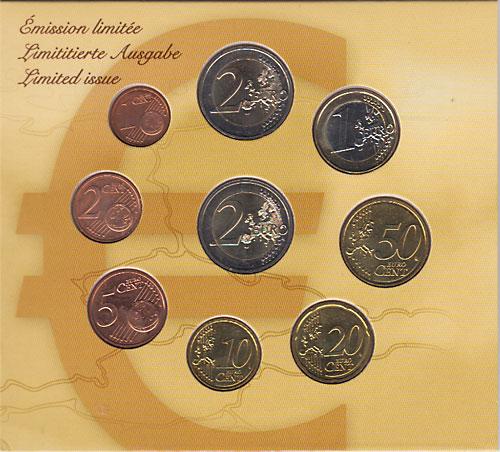 ルクセンブルグ 2011 ユーロコイン9種セット