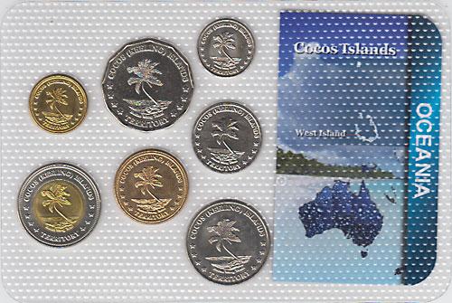 ココス諸島 2004年 7種セット