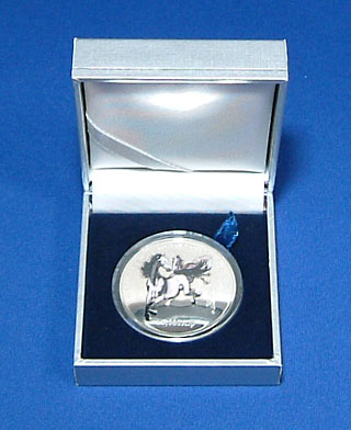 ラオス 午年(馬) 15,000キップ・カラー銀貨 2002 Proof