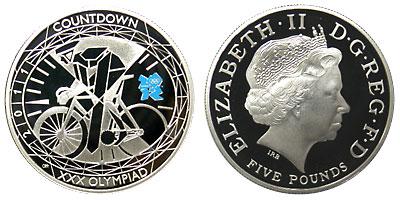 イギリス ロンドン五輪 5ポンド銀貨 2010-2011 第二次 4種プルーフセット