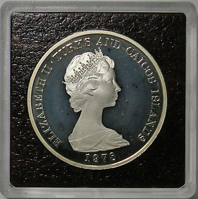 ターコス・カイコス諸島 1978 英連邦競技会 20クラウン銀貨 Proof