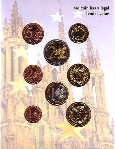 リトアニア 2004 ユーロファンタジー試鋳貨 8種セット UNC