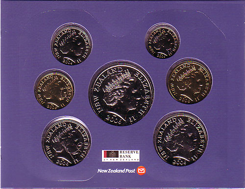 ニュージーランド 2006年 7種ミントセット
