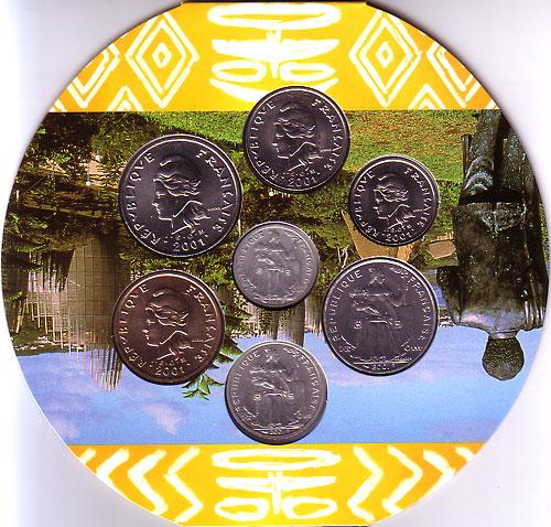 ニューカレドニア 2001年 7種 ミントセット