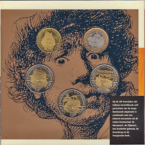 ライデン市(オランダ) レンブラント生誕400周年 5種トークン 2006