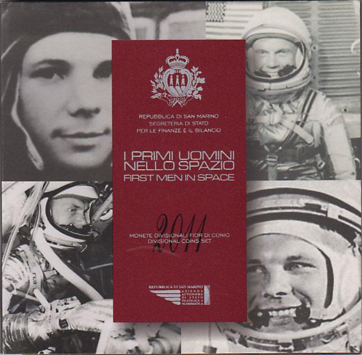 サンマリノ 2011 宇宙飛行士50周年貨入り ユーロ9種ミントセット