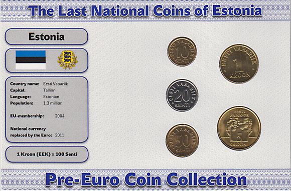 エストニア 1992-2003年 5種セット AU-UNC