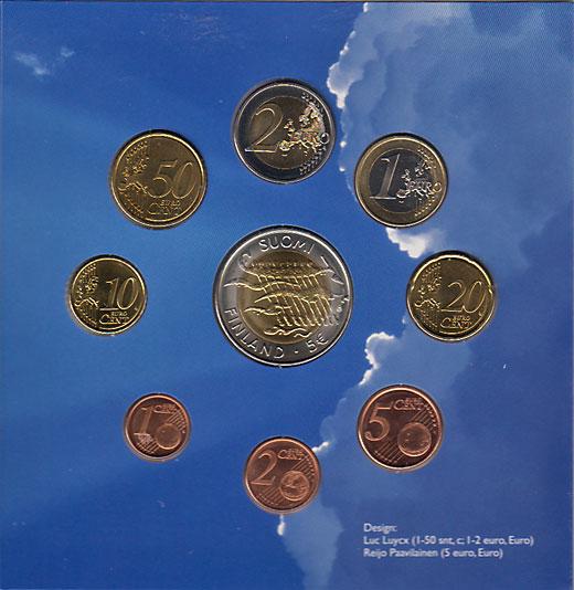 フィンランド 2007年 ユーロ8種+独立90周年記念5ユーロ貨セット