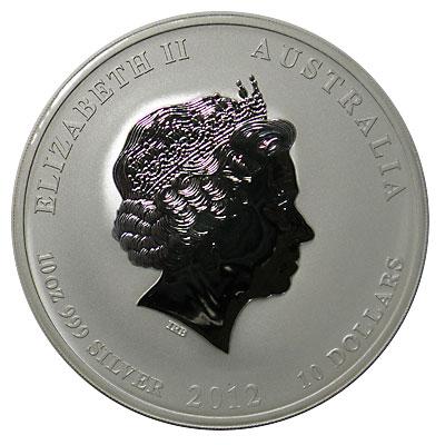 オーストラリア 2012 干支の10ドル銀貨 巳年(龍) UNC