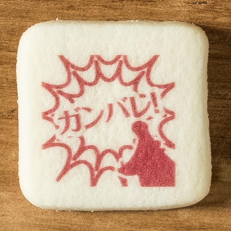 メッセージイラストクッキー がんばれ No.3