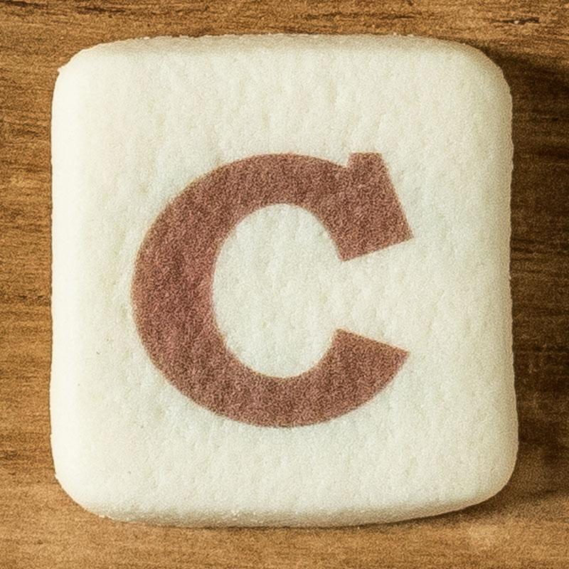 アルファベットクッキー C