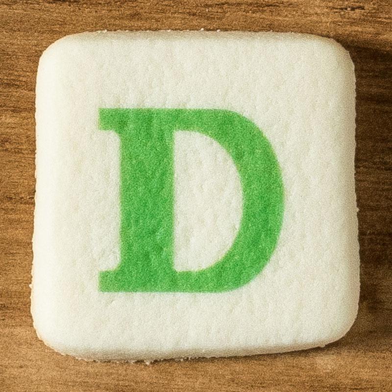 アルファベットクッキー D