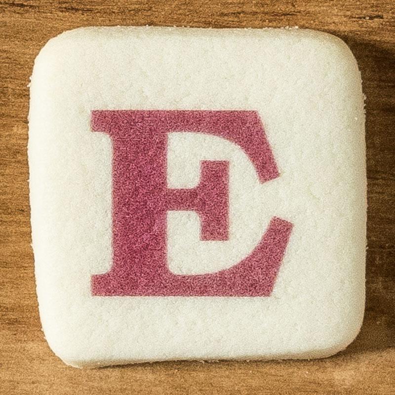アルファベットクッキー E