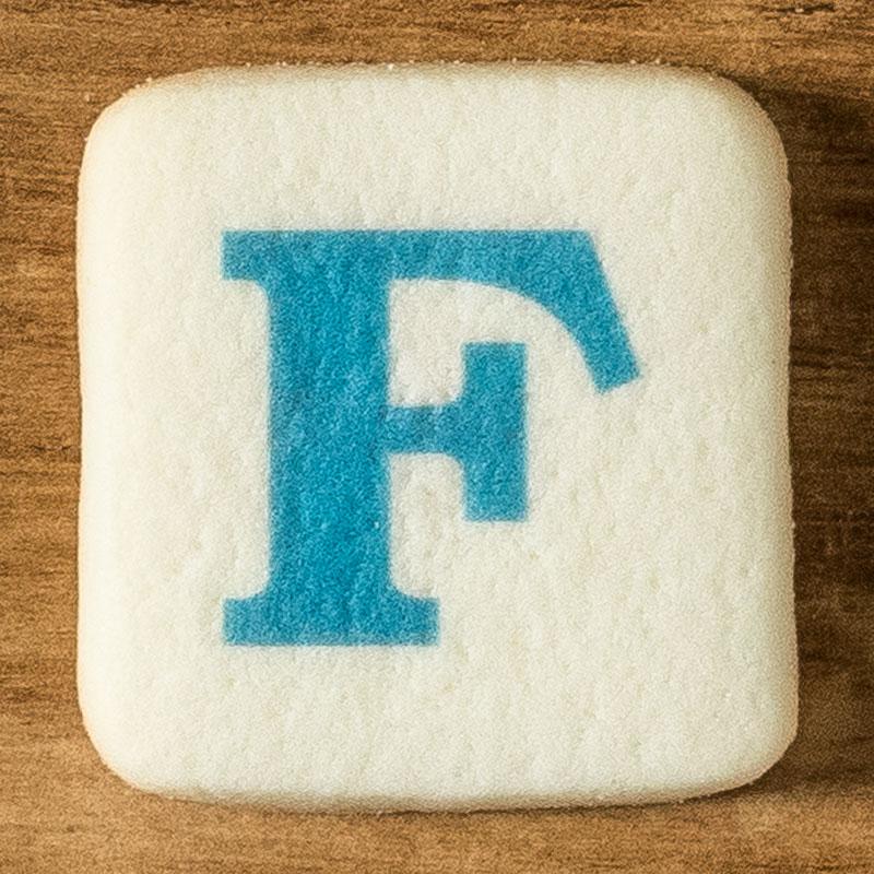 アルファベットクッキー F