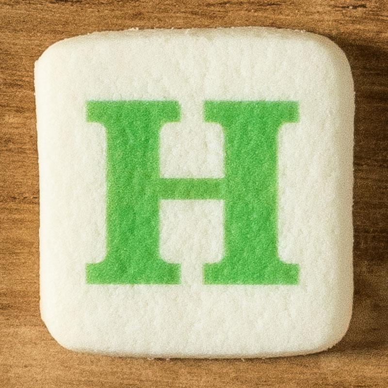 アルファベットクッキー H
