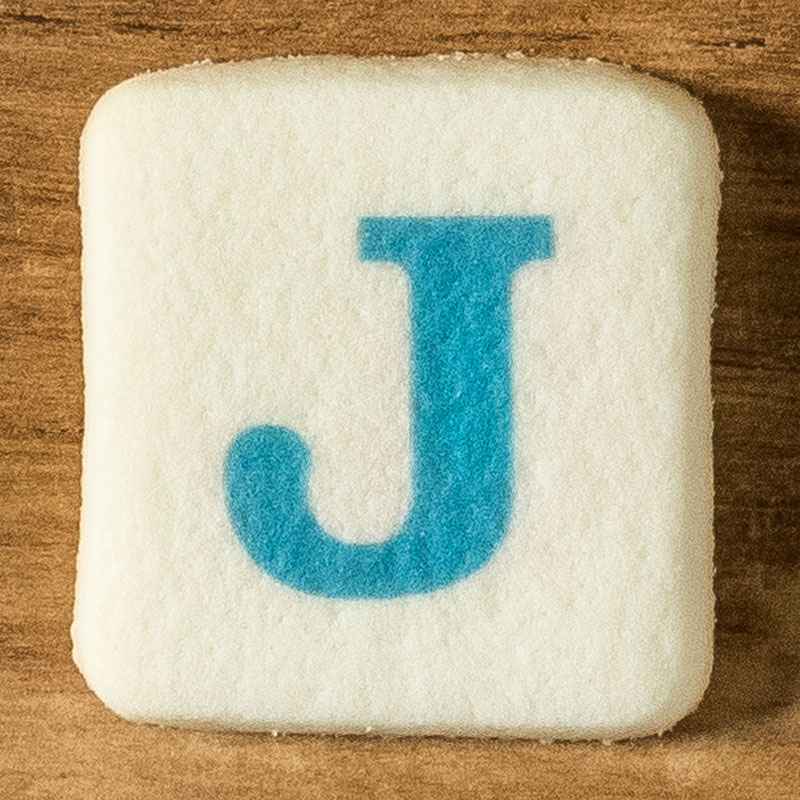 アルファベットクッキー J