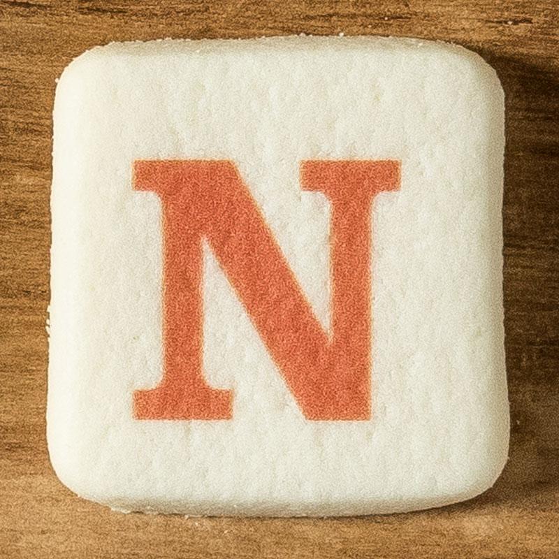 アルファベットクッキー N
