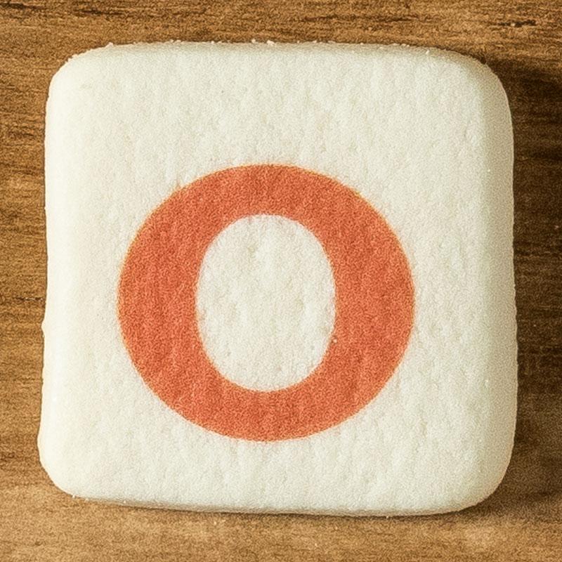 アルファベットクッキー O