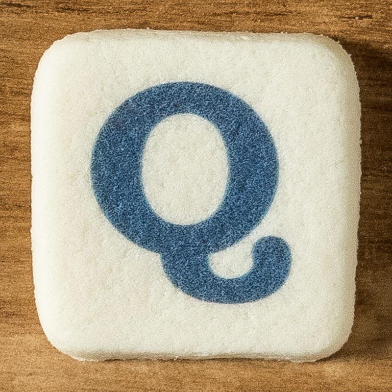 アルファベットクッキー Q