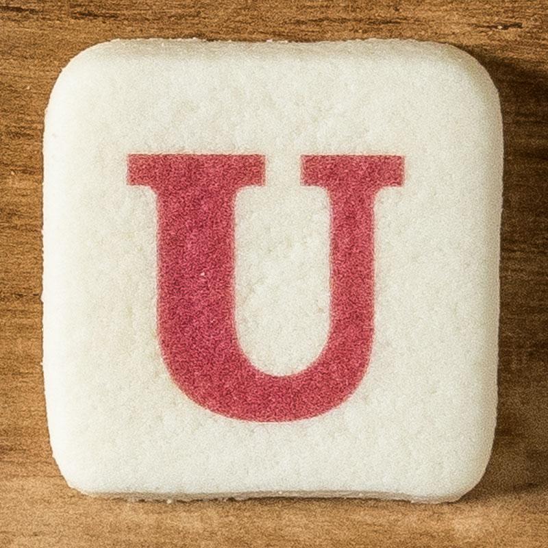 アルファベットクッキー U