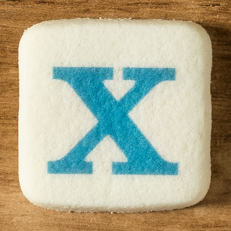 アルファベットクッキー X