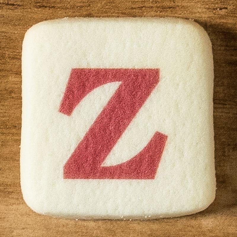 アルファベットクッキー Z
