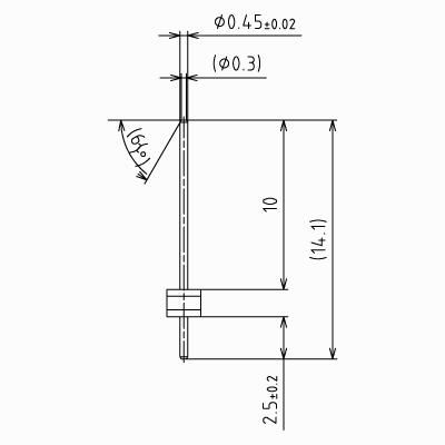 ピンヘッダーSS【STDPH-C-SS045-R300-A-PA13】φ0.45 3mmピッチ(1パック5個入り)