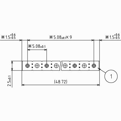 ピンヘッダーSS【STDPH-C-SS10-R508-A-BA10】φ1.0 5.08mmピッチ(1パック5個入り)
