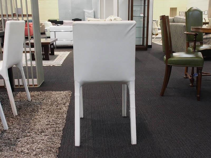 【74300円より50%引】椅子 「デヴァSP」革ホワイト/アウトレット&リワース横浜展示品