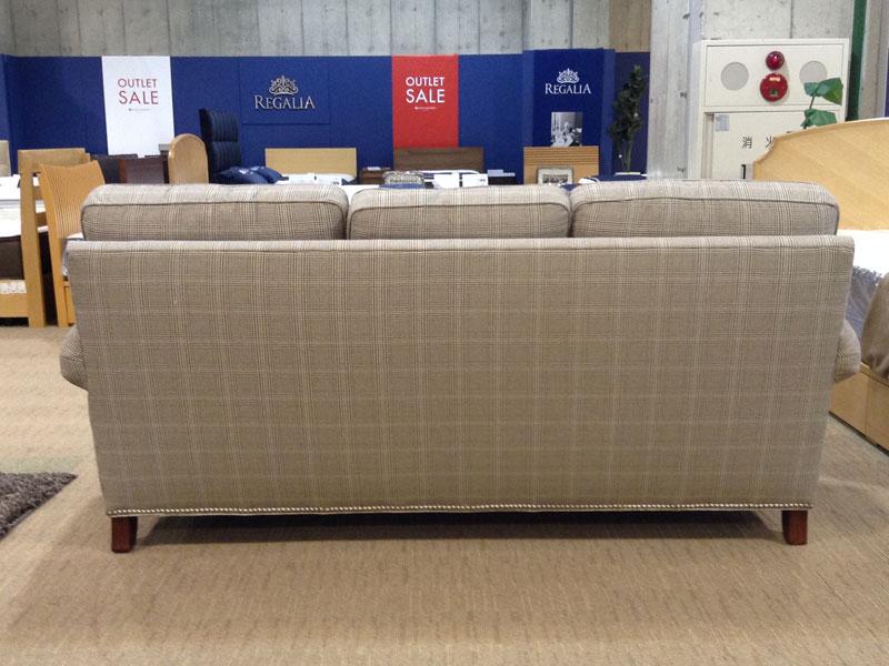 【236,000円より30%引】ソファ「ヨーク」布チェック /アウトレット&リワース横浜展示品