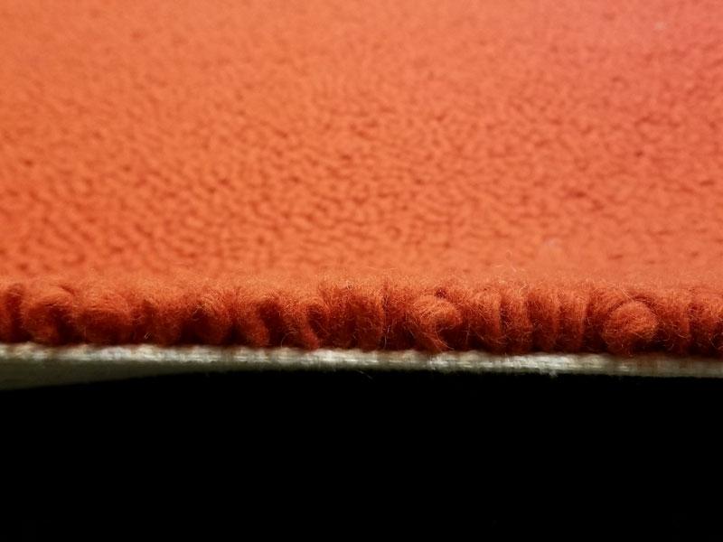 【68,992円より27%引】アクセントラグ「ウールドロップ FR1439 オレンジ 140x200」/アウトレット&リワース横浜展示品
