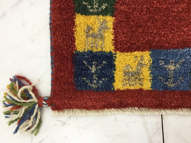 【9,900円より20%引】ペルシャギャッベ 1.5×1.5/アウトレット&リワース横浜展示品